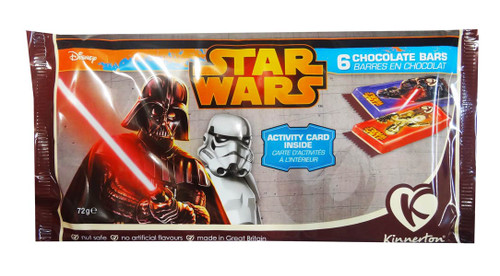 Star Wars Chocolate Bars, by Kinnerton,  and more Confectionery at The Professors Online Lolly Shop. (Image Number :8738)