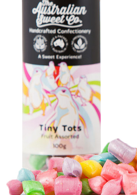 Tiny Tots, by The Australian Sweet Company,  and more Confectionery at The Professors Online Lolly Shop. (Image Number :9402)