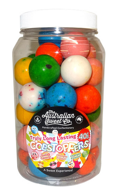 Gobstopper Jar - 40 s Long Lasting, by The Australian Sweet Company,  and more Confectionery at The Professors Online Lolly Shop. (Image Number :9767)