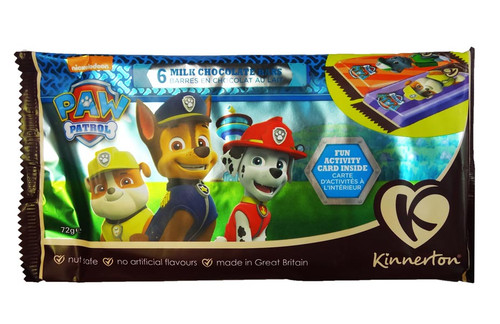 Paw Patrol Chocolate Bars, by Kinnerton,  and more Confectionery at The Professors Online Lolly Shop. (Image Number :8735)