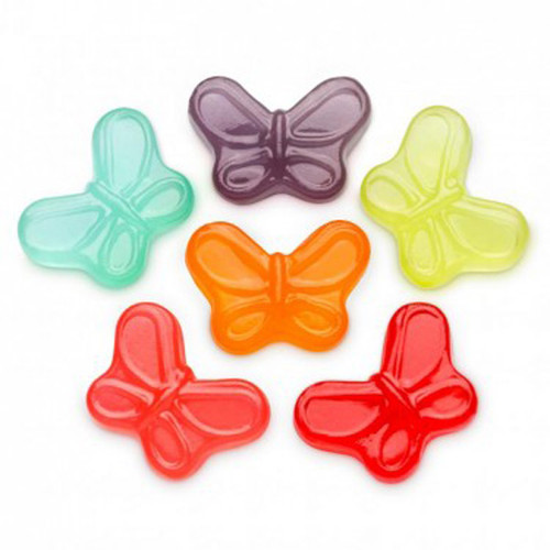 Gummi Small Butterflies, by Albanese Confectionery,  and more Confectionery at The Professors Online Lolly Shop. (Image Number :8776)