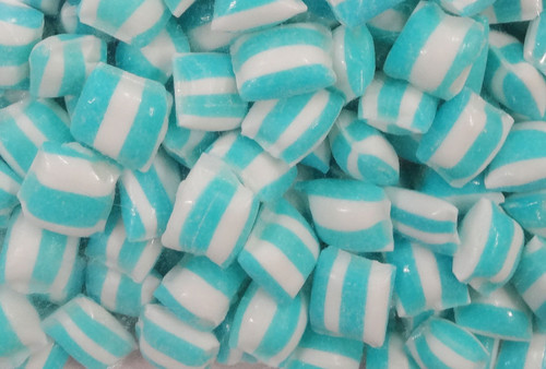 Rock Candy Pillows - Light Blue with a Lemonade Flavour, by Designer Candy,  and more Confectionery at The Professors Online Lolly Shop. (Image Number :8865)