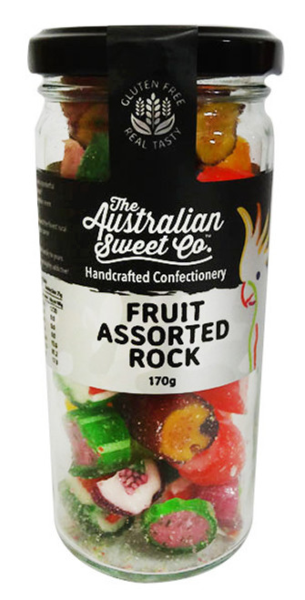 Fruit Assorted Rocks, by The Australian Sweet Company,  and more Confectionery at The Professors Online Lolly Shop. (Image Number :16679)