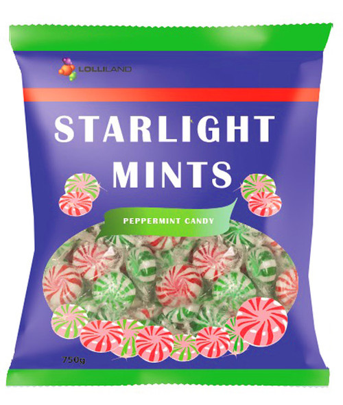 Starlight Mints 750g, by Lolliland,  and more Confectionery at The Professors Online Lolly Shop. (Image Number :8880)