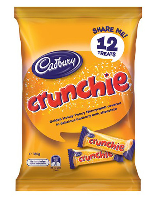 Cadbury Crunchie Sharepack, by Cadbury,  and more Confectionery at The Professors Online Lolly Shop. (Image Number :9213)