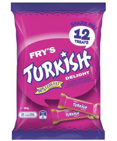 Cadbury Turksih Delight Sharepack, by Cadbury,  and more Confectionery at The Professors Online Lolly Shop. (Image Number :9220)