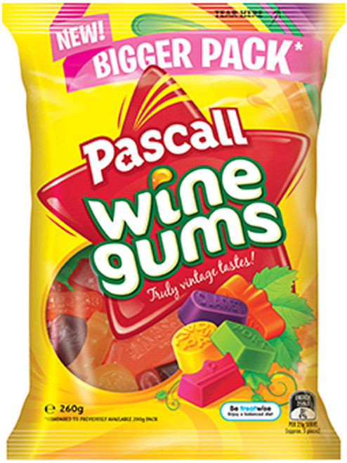 Pascall Wine Gums, by Pascall,  and more Confectionery at The Professors Online Lolly Shop. (Image Number :9298)