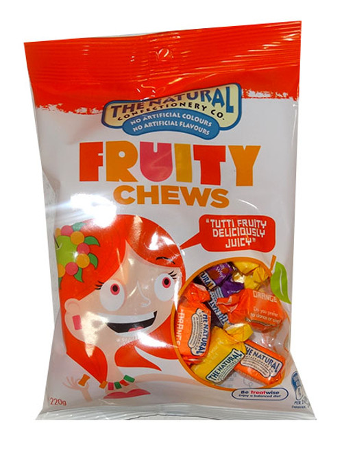 The Natural Confectionery Co. - Chews - Fruity Mix, by The Natural Confectionery Co.,  and more Confectionery at The Professors Online Lolly Shop. (Image Number :9697)