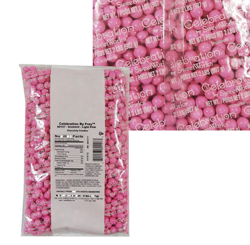 Sixlets - Light Pink, by Sixlets,  and more Confectionery at The Professors Online Lolly Shop. (Image Number :9043)