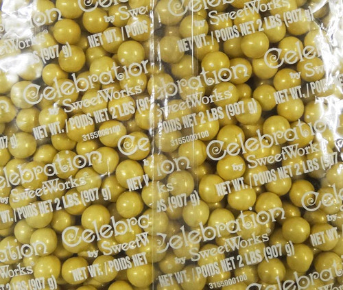 Sixlets - Shimmer Gold #80129, by Sixlets,  and more Confectionery at The Professors Online Lolly Shop. (Image Number :9054)
