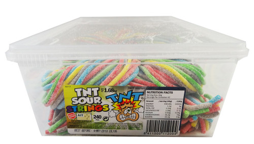 TNT Sour Strings Multicolour, by TNT,  and more Confectionery at The Professors Online Lolly Shop. (Image Number :9181)