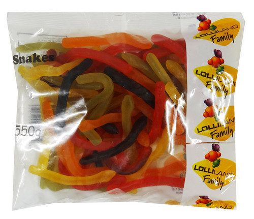 Lolliland Snakes, by Lolliland,  and more Confectionery at The Professors Online Lolly Shop. (Image Number :9170)