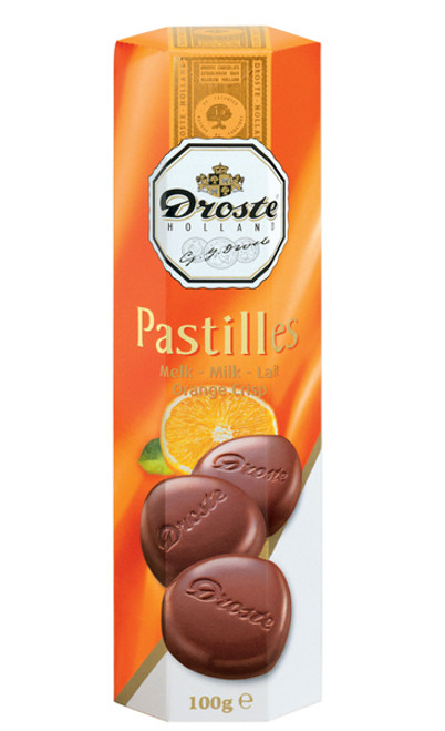 Droste Rolls Orange Crisp Milk Chocolate and more Confectionery at The Professors Online Lolly Shop. (Image Number :9231)