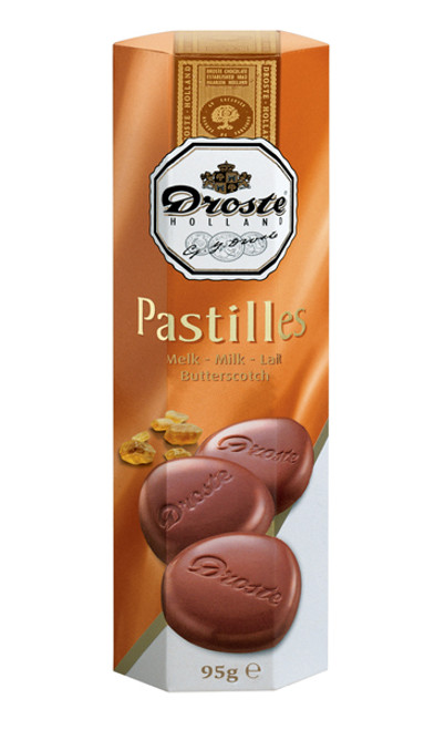 Droste Rolls Butterscotch Milk Chocolate and more Confectionery at The Professors Online Lolly Shop. (Image Number :9227)