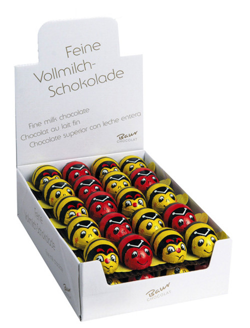 Baur Milk Chocolate Mini Red/Yellow Beetles, by Baur Chocolat,  and more Confectionery at The Professors Online Lolly Shop. (Image Number :9204)
