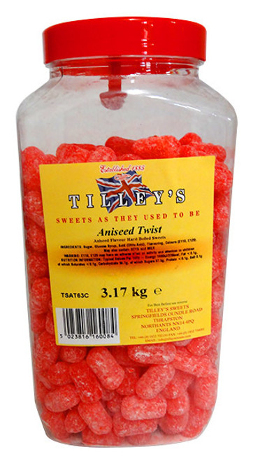 Tilleys Aniseed Twist - Crystalized, by Tilleys,  and more Confectionery at The Professors Online Lolly Shop. (Image Number :13367)
