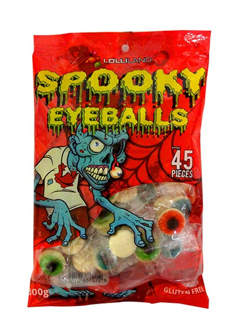 Lolliland Spooky Gummy Eyeballs, by Lolliland,  and more Confectionery at The Professors Online Lolly Shop. (Image Number :10558)