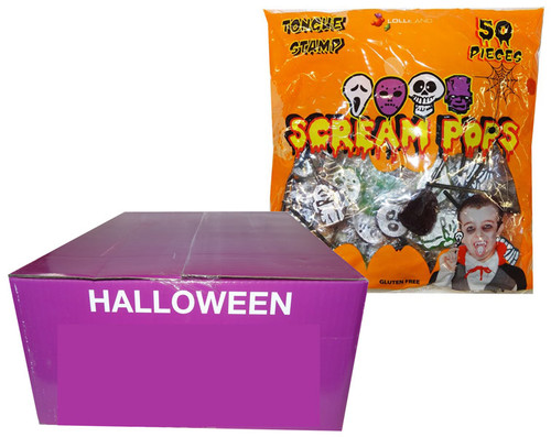 Scream Pops - Tongue Stamp, by Lolliland,  and more Confectionery at The Professors Online Lolly Shop. (Image Number :9383)