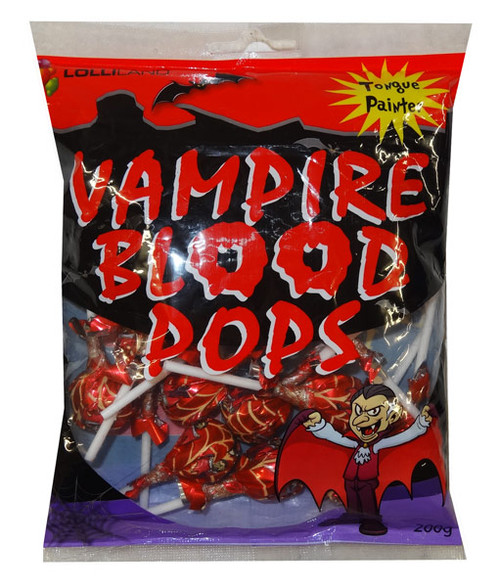 Lolliland Vampire Blood Pops - Tongue Painter, by Lolliland,  and more Confectionery at The Professors Online Lolly Shop. (Image Number :9341)
