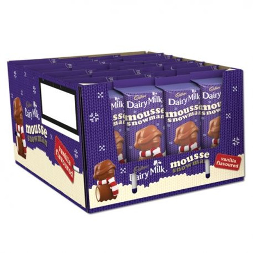 Cadbury Vanilla Mousse Snowman, by Cadbury,  and more Confectionery at The Professors Online Lolly Shop. (Image Number :9364)