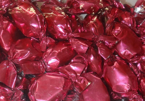 Sweet Treats Wrapped Hard Toffees - Pink - Strawberry, by Brisbane Bulk Supplies,  and more Confectionery at The Professors Online Lolly Shop. (Image Number :9591)
