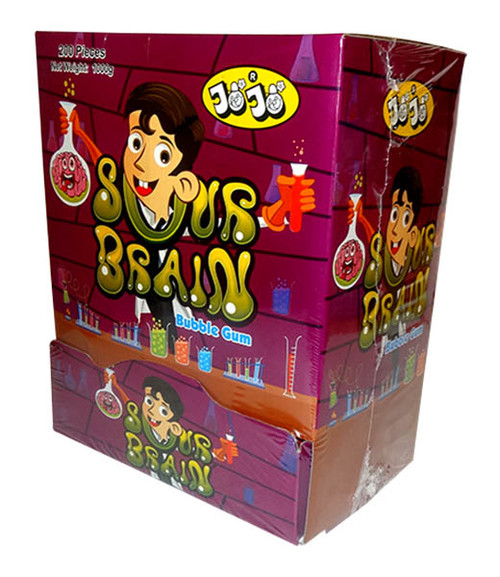 JoJo Sour Brains Bubble Gum, by JoJo,  and more Confectionery at The Professors Online Lolly Shop. (Image Number :9770)