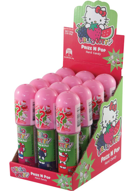 Hello Kitty Prize n Pop - Hard Candy + Toy and more Confectionery at The Professors Online Lolly Shop. (Image Number :9914)