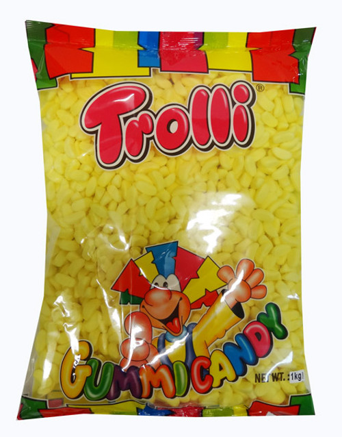 Trolli Mini Bananas - Bulk Pack, by Trolli,  and more Confectionery at The Professors Online Lolly Shop. (Image Number :9609)