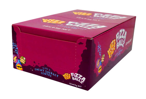 Wizz Fizz Fizza Balls, by Fyna Foods,  and more Confectionery at The Professors Online Lolly Shop. (Image Number :10464)