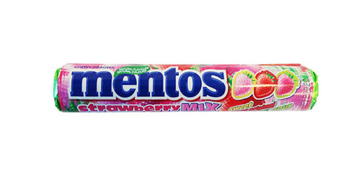 Mentos Strawberry Mix, by Perfetti Van Melle,  and more Confectionery at The Professors Online Lolly Shop. (Image Number :9934)