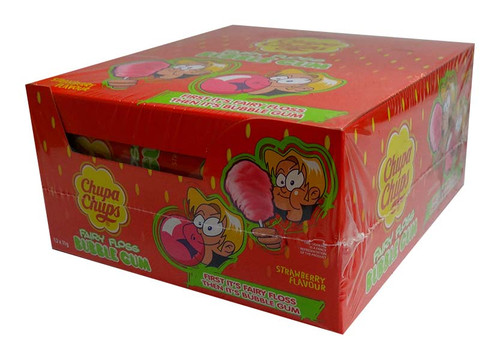 Chupa Chups - Fairy Floss Bubble Gum - Strawberry, by Perfetti Van Melle,  and more Confectionery at The Professors Online Lolly Shop. (Image Number :9998)