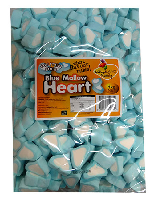 Lolliland Heart Shaped Marshmallows - Blue and White, by Lolliland,  and more Confectionery at The Professors Online Lolly Shop. (Image Number :10096)