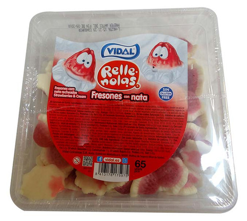 Vidal Jelly Filled Strawberries and Cream, by vidal,  and more Confectionery at The Professors Online Lolly Shop. (Image Number :10077)