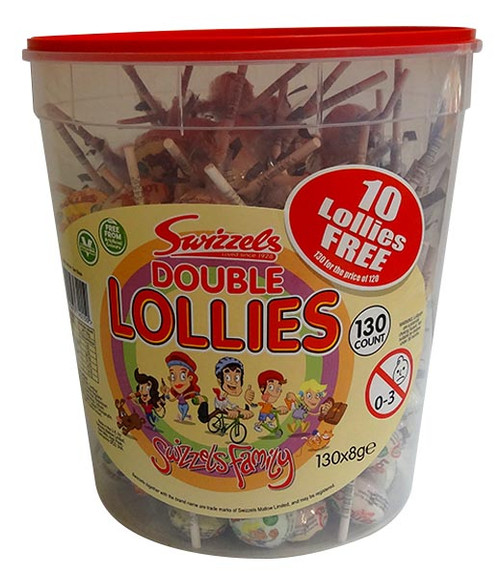 Swizzels Double Lollipop Jar, by Swizzels Matlow,  and more Confectionery at The Professors Online Lolly Shop. (Image Number :10088)