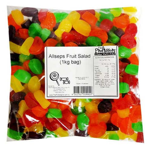 Allseps Fruit Salad, by Allseps,  and more Confectionery at The Professors Online Lolly Shop. (Image Number :12126)