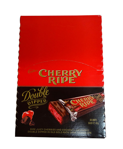 Cherry Ripe Double Dipped, by Cadbury,  and more Confectionery at The Professors Online Lolly Shop. (Image Number :10305)