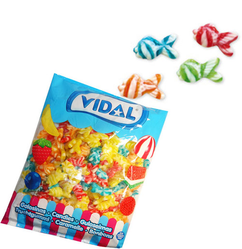 Vidal Swirly Fish, by vidal,  and more Confectionery at The Professors Online Lolly Shop. (Image Number :10235)