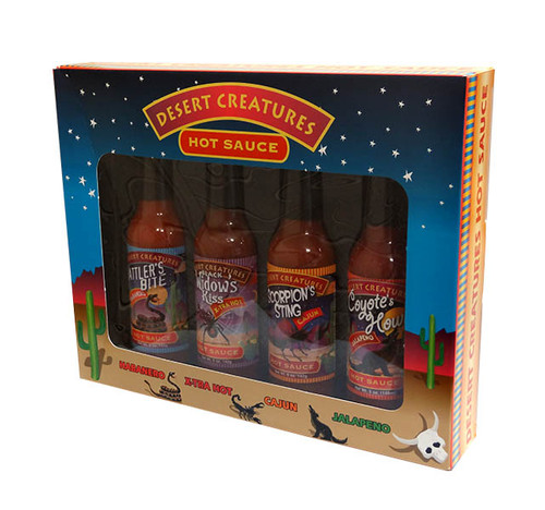 Desert Creature Hot Sauce Gift Pack, by Southwest Specialty Food Inc,  and more Snack Foods at The Professors Online Lolly Shop. (Image Number :10310)