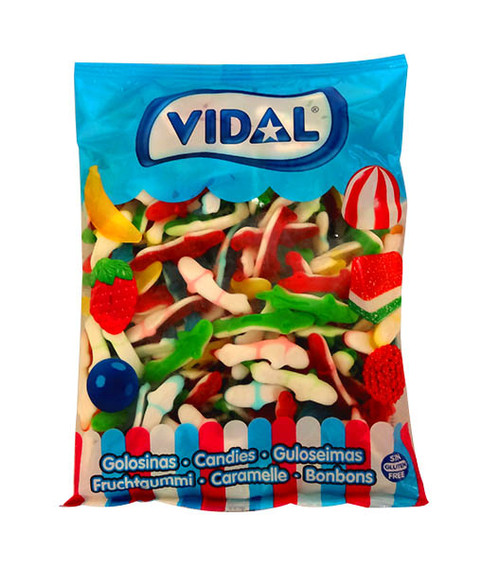 Vidal Tiburones Jelly - Rainbow Sharks, by vidal,  and more Confectionery at The Professors Online Lolly Shop. (Image Number :10424)