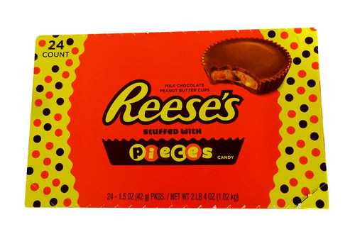 Reeses Peanut Butter Cups with Reeses Pieces, by Reeses,  and more Confectionery at The Professors Online Lolly Shop. (Image Number :10671)