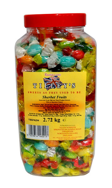 Tilleys Sherbet Fruits, by Tilleys,  and more Confectionery at The Professors Online Lolly Shop. (Image Number :10451)