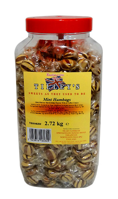 Tilleys Mint Humbugs, by Tilleys,  and more Confectionery at The Professors Online Lolly Shop. (Image Number :10449)