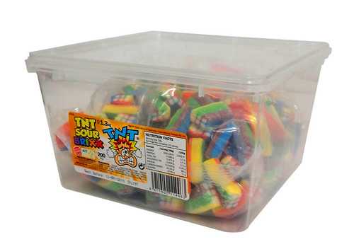TNT Sour Brixx - Rainbow, by TNT,  and more Confectionery at The Professors Online Lolly Shop. (Image Number :10453)