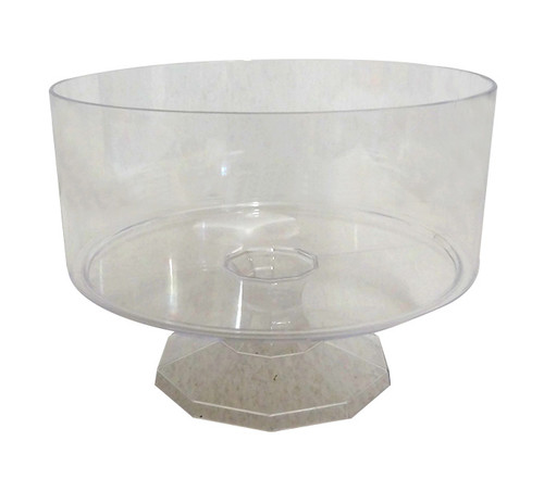 Clear Plastic Candy Buffet Trifle Jar - Medium and more Partyware at The Professors Online Lolly Shop. (Image Number :10549)