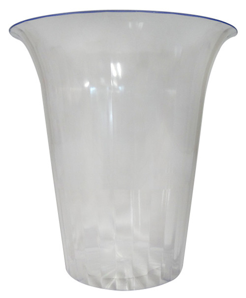 Clear Plastic Candy Buffet Flared Cylinder - Large and more Partyware at The Professors Online Lolly Shop. (Image Number :11744)