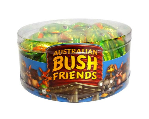 Australian Bush Friends Milk Chocolate - Frogs, by Fyna Foods,  and more Confectionery at The Professors Online Lolly Shop. (Image Number :10433)