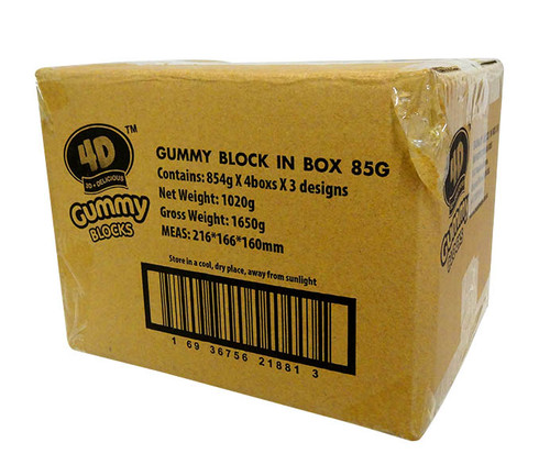 4D Gummy Blocks Box and more Confectionery at The Professors Online Lolly Shop. (Image Number :10532)