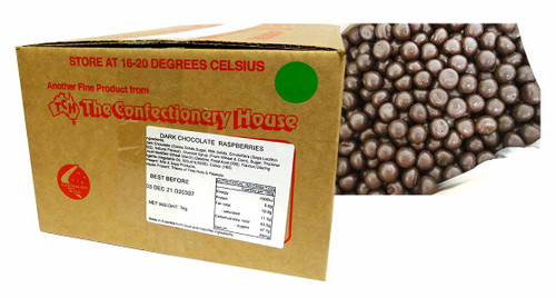 Premium Dark Choc Raspberries, by Confectionery Trading Company,  and more Confectionery at The Professors Online Lolly Shop. (Image Number :16764)