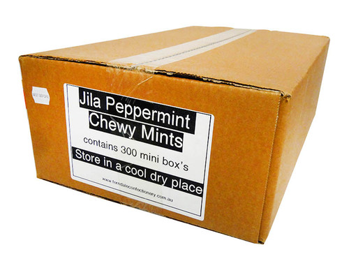 Jila Chewy Mini Mint Packs - Peppermint, by Ferndale Confectionery/Jila,  and more Confectionery at The Professors Online Lolly Shop. (Image Number :10713)