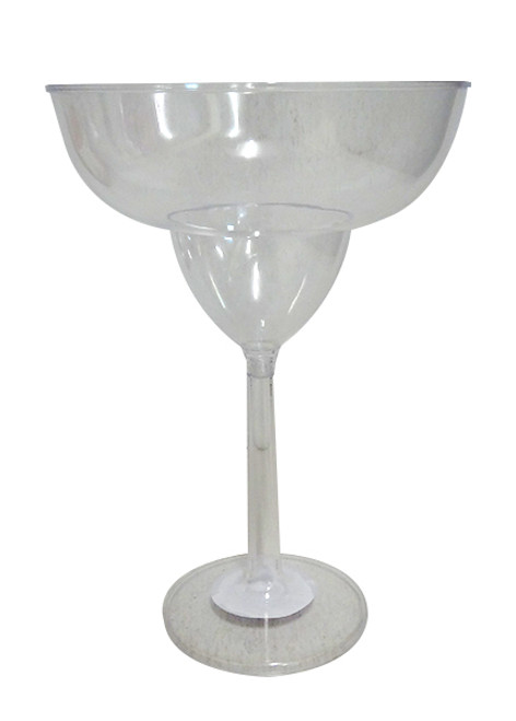 Clear Plastic Candy Buffet Jumbo Margarita Glass and more Partyware at The Professors Online Lolly Shop. (Image Number :10758)
